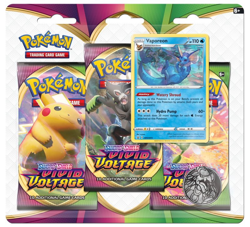 Pokemon - TCG - Vivid Voltage Three Booster Blister