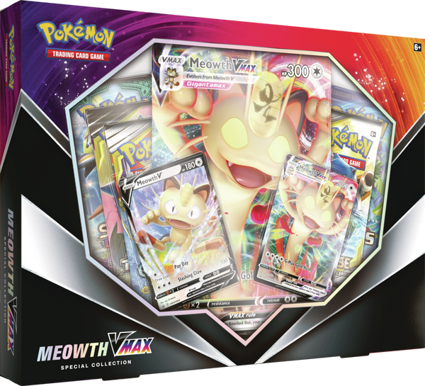 Pokemon - TCG - Meowth VMAX - Special Collection Box