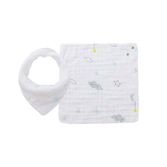 Angel Dear Starry Night Swaddle Blanket and Bib Set