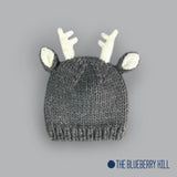 Hartley Deer Grey Knit Hat