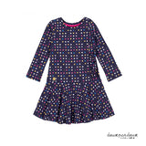 Dotted Dress with Side Ruffles