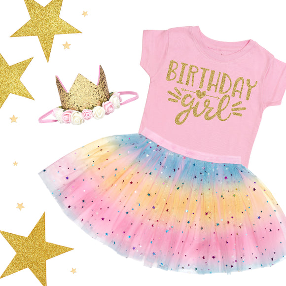 Pink Birthday Girl T-Shirt