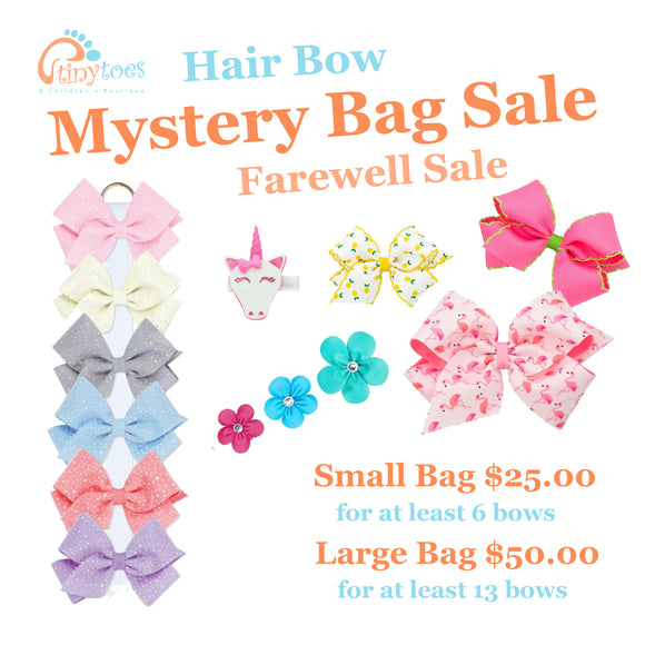 Hair Bow Mystery Bag: Farewell Sale Edition