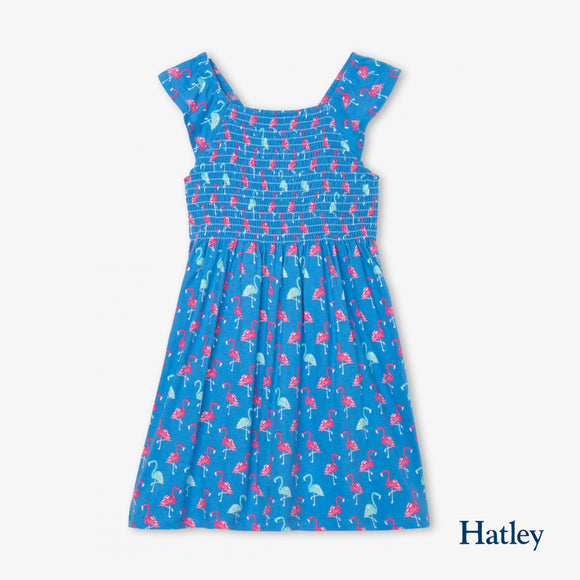 Fancy Flamingos Smocked Dress