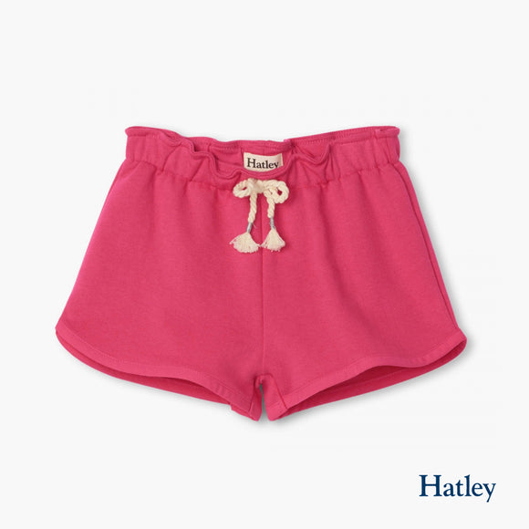 Fuchsia Paper Bag Shorts