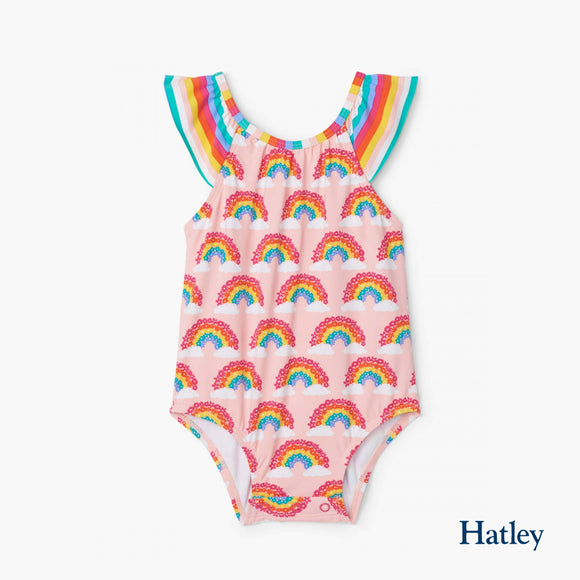 Magical Rainbows Baby Ruffle Swimsuit