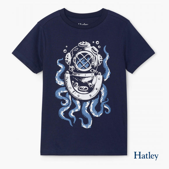 Octopus Diver Graphic Tee