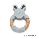 Bunny Silicone and Wood Teether