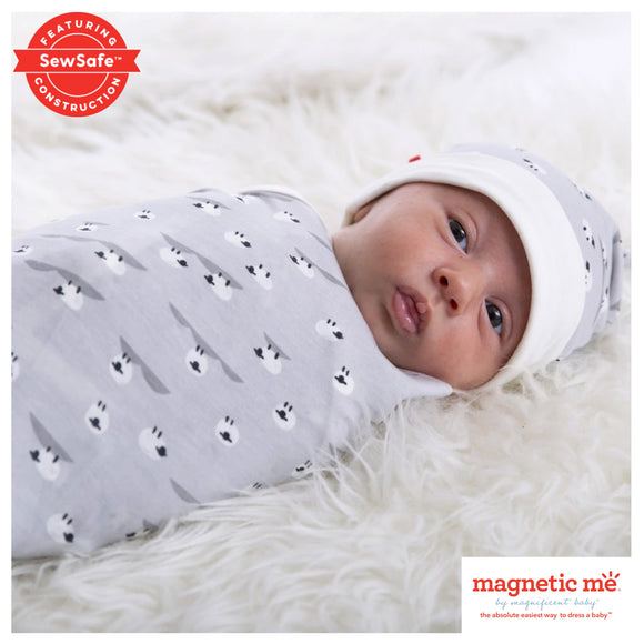 Sheeps Meadow Modal Magnetic Sack Gown & Hat Set