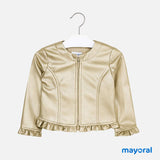 Leatherette Ruffled Jacket