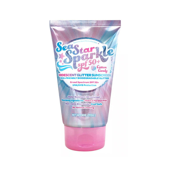 SeaStar Sparkle SPF 50+ Cotton Candy with Iridescent Reef Safe Bio-Degradable Glitter