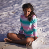 Green Tie Dye Hearts Classic Long Sleeve Rash Vest