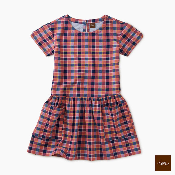 Bhuton Plaid Plaid Woven Pocket Dress
