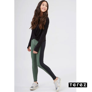Olive Colorblock Leggings