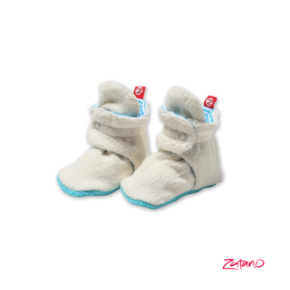 Stripe Lined Cozie Baby Bootie