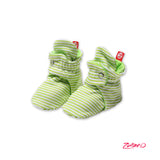 Candy Stripe Cotton Baby Booties