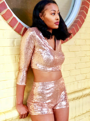 Golden Glitz Sequin Set