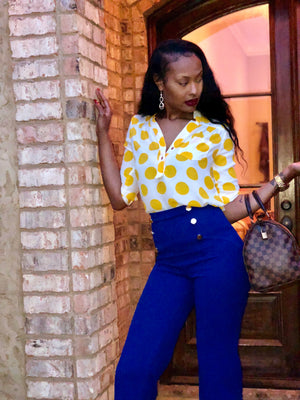 Mustard Yellow Connection Blouse