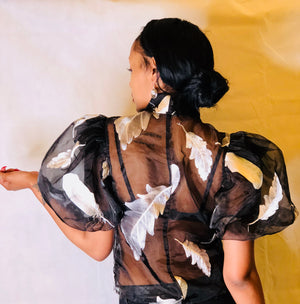 Dramatic Sheer Blouse