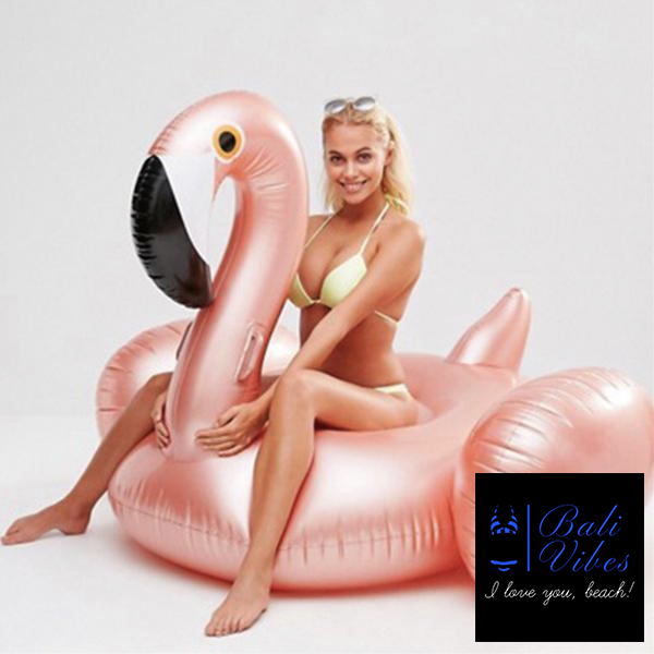 Bali Vibes Rose Gold  Inflatable Flamingo