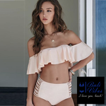 Bali Vibes Strapless Off Shoulder Bikini Set