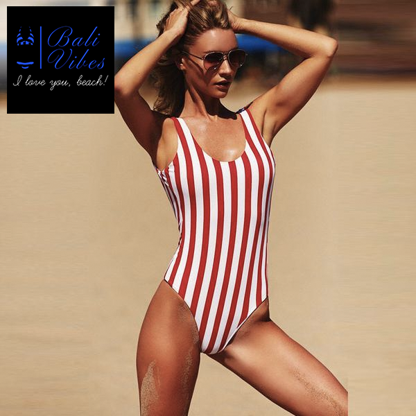 Stripe One Piece Bikini