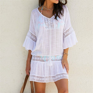 Bali Vibes Bamboo Cotton Kaftan Beach Dress
