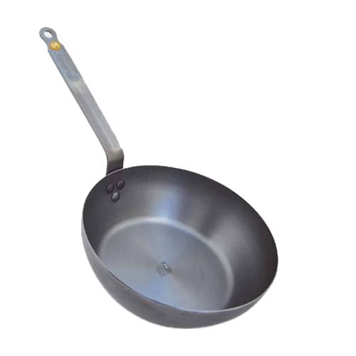 De Buyer Mineral B Element Carbon Steel Round Country Chef Pan, 11 ...