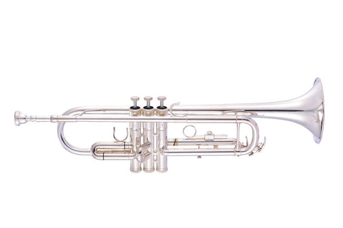 B flat Trumpet by Packer (student level, in silver plate) GREAT BUY!