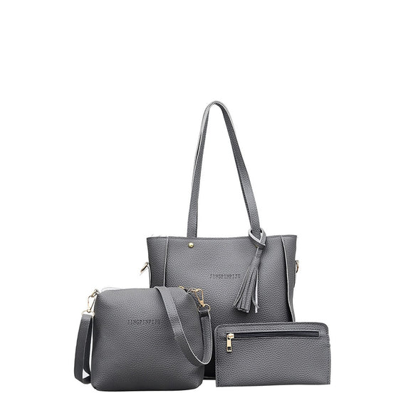 Tassel | 3 Piece Bag  Combination | Grey