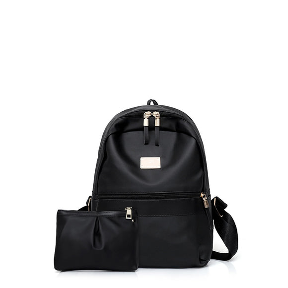 Match Detail | Backpack With Clutch | Black