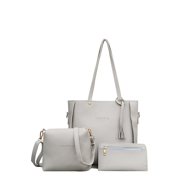 Tassel | 3 Piece Bag  Combination | Silver