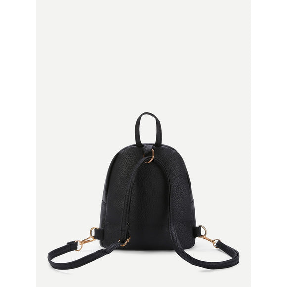 Stylish Detail | Small Backpack | Black