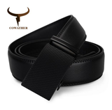 COWATHER | Genuine Leather | Automatic buckle | Black