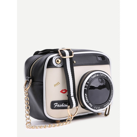 Camera Style | Crossbody Bag | Black and White