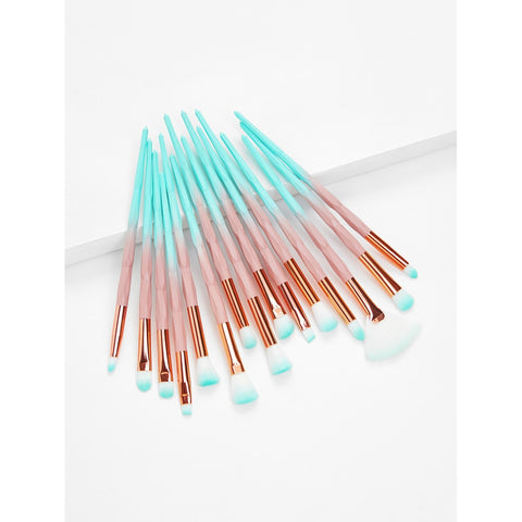 Ombre Professional | Brush Set 15pcs | Aqua Blue