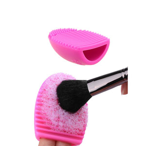 Brush Cleaning Egg | Hot Pink