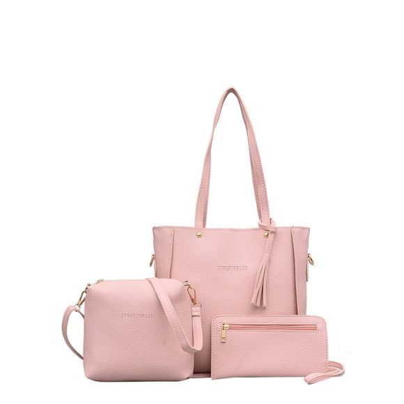Tassel | 3 Piece Bag  Combination | Pink