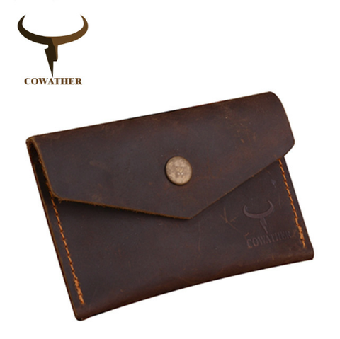 COWATHER | Genuine Leather | Cards & ID Holder | Coffee