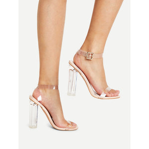 Clear Ankle Strap | Design Heels | Apricot