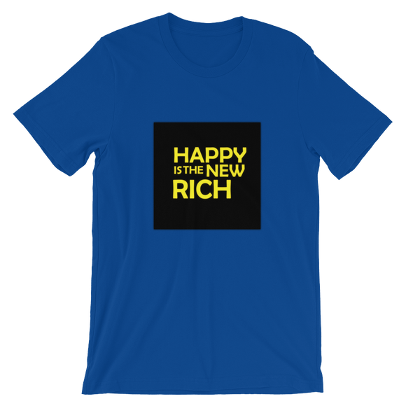 HAPPY is the NEW RICH | Short-Sleeve T-Shirt | True Royal