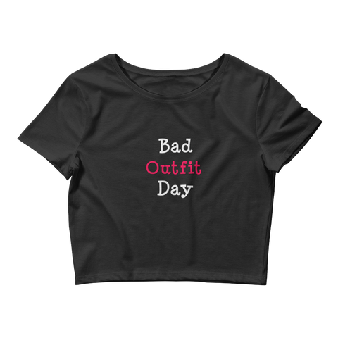 Bad Outfit Day | Crop Tee | Black