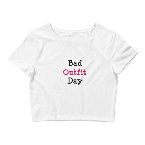 Bad Outfit Day | Crop Tee | White