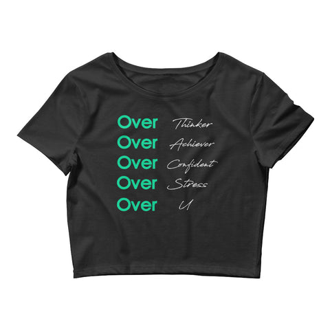 Over U | Crop Tee | Black