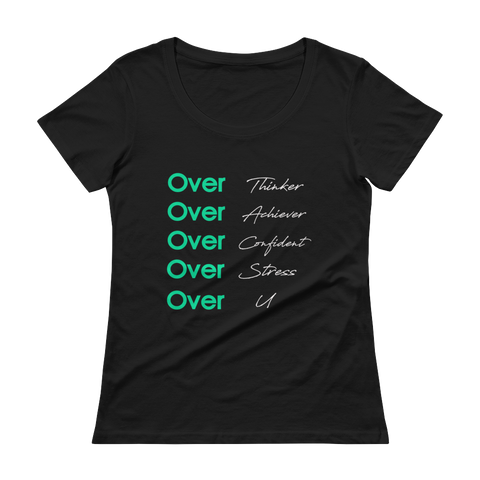 Over U | Scoop-neck T-Shirt | Black