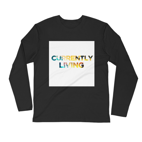CURRENTLY LIVING | Long Sleeve Fitted Crew | Black