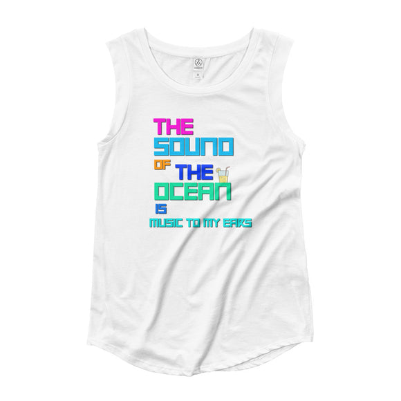 The Love of The Ocean | Cap Sleeve Tank | Multiple Colors