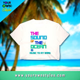 Sounds Of The Ocean | Crop Tee | White