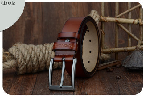 COWATHER | Genuine Leather | Pin Buckle | Brown