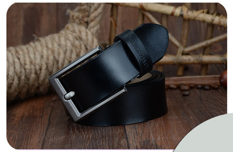 COWATHER | Genuine Leather | Pin Buckle | Black